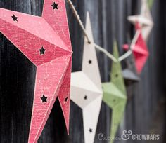 DIY Star Garland - d