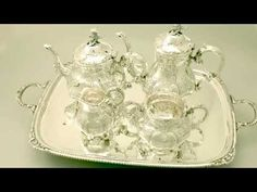 Video ... Sterling Silver Five Piece Tea & Coffee Service - Louis Style - Vintage - AC Silver (W6984)