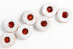 orange raspberry linzer cookies