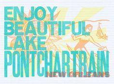lake pontchartrain, pontchartrain poster