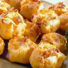 Recipes, Dinner Ideas, Healthy Recipes  Food Guide: Bacon Cheddar Puffs #healthyrecipes #Healthyliving