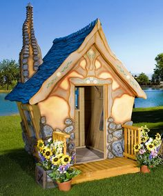 Storybook Cottage Playhouse by MonsterCityStudios on Etsy, $9750.00