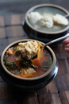 Kimchi Matzoh Ball Soup