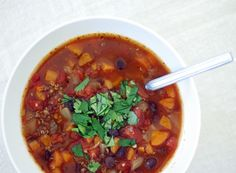 smoky spicy black bean and quinoa soup