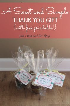A Sweet and Simple Thank You Gift by Just a Girl and Her Blog