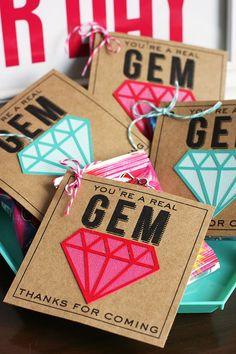 eighteen25: You're a Real Gem - attach to Ring Pops