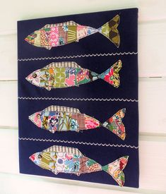 Stripey Fishes by Bustle & Sew, via Flickr