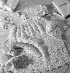 Vintage Christening Gown Crochet Pattern.