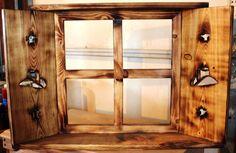 Country Western decor Window shelf w shutters. $45.00, via Etsy.