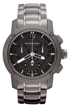Burberry chronograph bracelet watch.