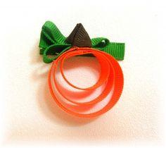 bow tutorial, ribbon art, hair clips, halloween crafts, ribbon crafts, pumpkin ribbon, hair bows, ribbon sculpture, happy halloween