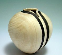 Black Tie - Curly Maple Vessel
