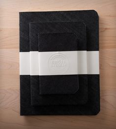 Black Denim Notebooks - Set of 3 | Gifts Cards & Stationery | Emgie Libris | Scoutmob Shoppe | Product Detail
