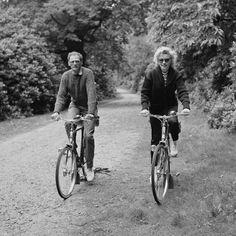 Fotos antiguas de bicicletas: Arthur Miller y Marilyn Monroe