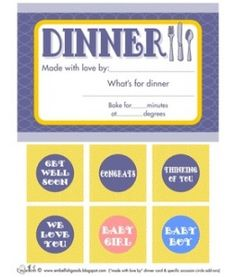 Compassionate Dinner Notecard Printables