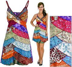 Recycled saris dress