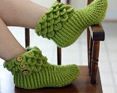 Crocodile Stitch Boots (Adult Sizes) - Crochet Pattern (PDF) - Permission to Sell Finished Items. $5.00, via Etsy.