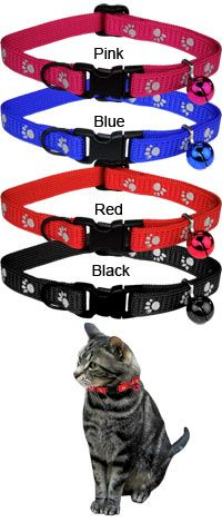 Reflective Paw Print Cat Collar at The Animal Rescue Site