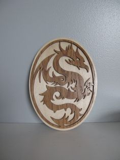 Dragon Wall Plaque by GinnArt on Etsy, $30.00