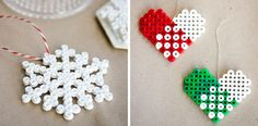 Beaded Christmas ornaments by Craft & Creativity.
