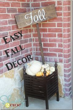 Planning for Fall decor!  This looks so easy and cute!
