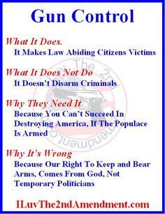 Gun Control, the truth.
