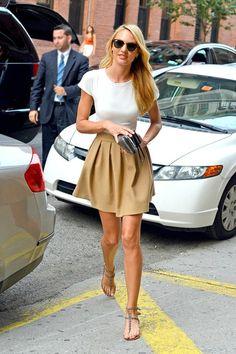 Skirt + Plain Tee   # Pin++ for Pinterest #