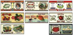 Vintage Food Labels - Carmen Herrera