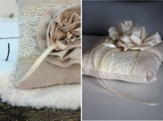 Burlap - a touch of rustic charm - @Toni Lisk