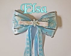 Elsa Inspired Disney Frozen Hair bow by ToInfinityBowtique on Etsy, $10.00