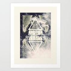 AURORA BOREALIS#01 Art Print by oculto | Society6