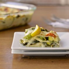 Virtually Homemade: Summer Veggie Lasagna with Skinny Alfredo Sauce