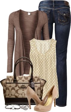"""In My Closet: Shades of Brown"" by stylesdice ❤ liked on Polyvore"