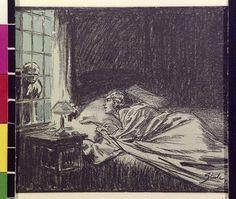 """Ilustración de """"The Creeping Man"""" de A. Conan Doyle, en la revista Hearst's International, nº 43:10 (Marzo de 1923)."""