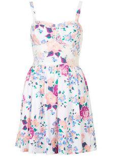 Topshop Rose Corset Tunic Dress