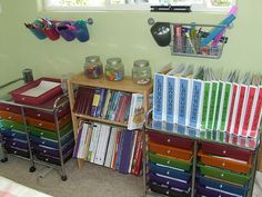 Great ideas for homeschool organization