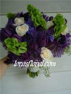 bouquet, purple flowers, floral, plum