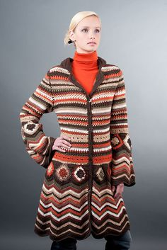 My very favorite crochet item inspired by Missoni is this coat by Fashion Martina. You can buy the crochet pattern on Ravelry.