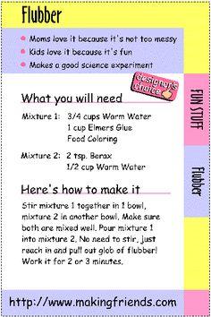 ... Flubber recipe!