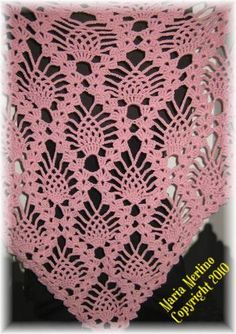 Crochet Shawls Patterns Free Only | like this beautiful shawl of pinecones! I have included in the pattern ...