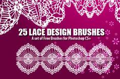 25 Dainty Lace Design Photoshop Brushes