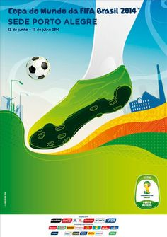 The posters of the 12 host cities of the FIFA World Cup 2014 (Brazil) - Porto Alegre