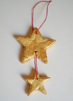 salt dough ornament -- make with 3 stars for papa, mama, and dordie