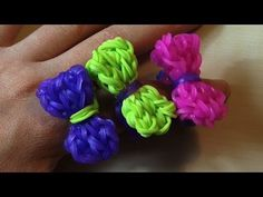 Rainbow Loom BOW RING. Designed and loomed by TheParentingChannel. Click photo for YouTube tutorial. 04/29/14.