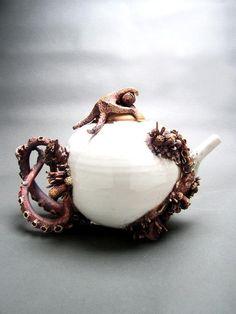 tea time, sweet tea, mari omalley, teapots, sea creatur, tea pot, teas, bottom feeder, octopus