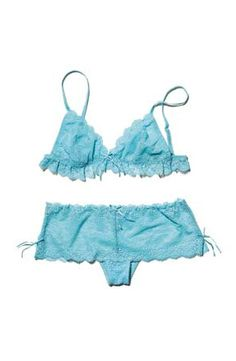Ruffles add oomph to your chest, while boy-cut panties offer plenty of coverage.