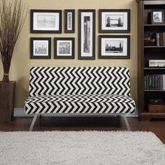 Gage Zig-Zag Click-Clack Futon Sofa Bed, Multiple Colors
