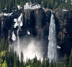 Bridal Veil Falls outside of Telluride, Colorado by Alaskan Dude, via Flickr