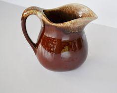 New Listing! Vintage Pitcher McCoy Pottery Pitcher McCoy Brown by JudysJunktion, $20.00