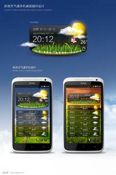 Slick Weather Widget for Android by leef via zcool